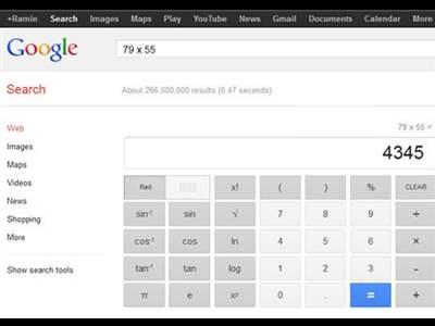 ماشین حساب گوگل +چند ترفند