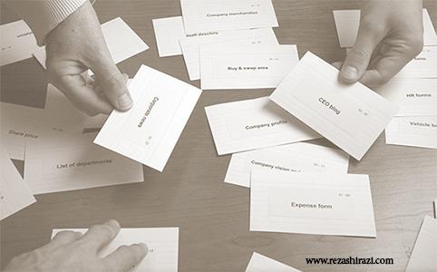 card sorting یا کارت سورتینگ چیست